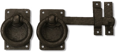 Bronze Ring Turn Drop Bar And Carriage Door Hardware