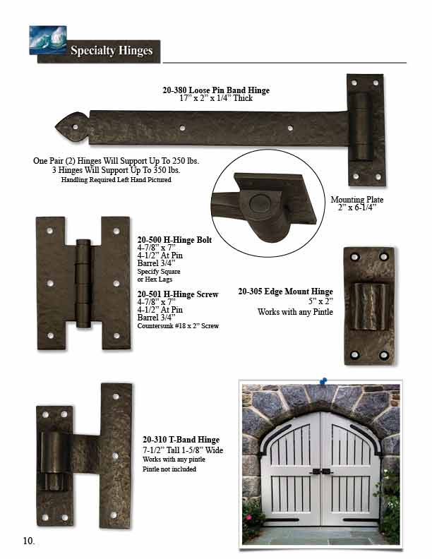 Bronze Door Specialty Hinges